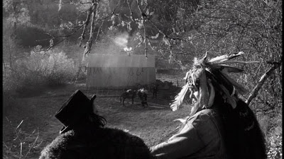 Johnny Depp as William Blake, Gary Farmer as Nobody, Robby Müller's hypnotic black & white cinematography, Dead Man (1995), Directed by Jim Jarmusch