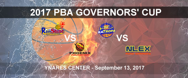 List of PBA Game(s) Wednesday September 13, 2017 @ Ynares Center
