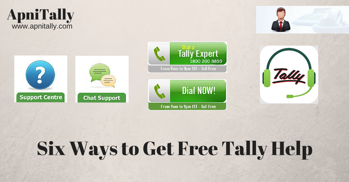 Six ways of Getting free Help on Tally from Tally solutions