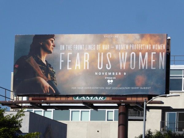 Fear Us Women documentary short billboard