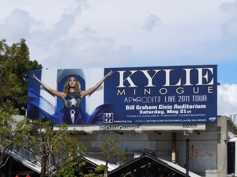 Kylie San Francisco Aphrodite Tour billboard