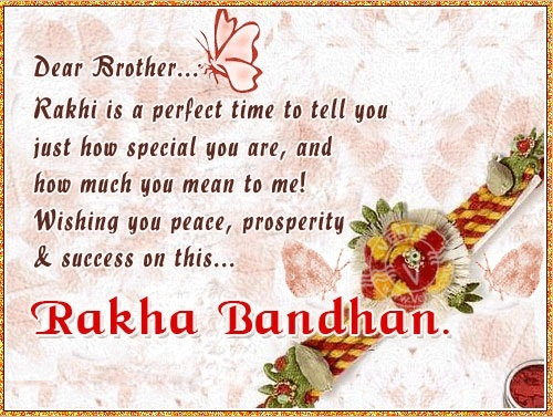 Raksha Bandhan Greetings Card For Brother