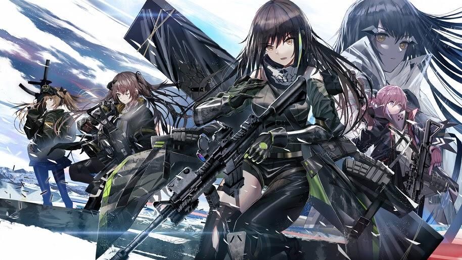 Anime, Girls Frontline, Guns, Rifles, Weapons, 4K, #6.1088