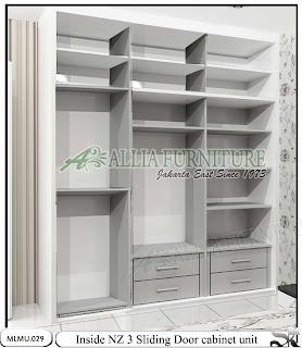 Dalam lemari minimalis cabinet unit sliding Nz