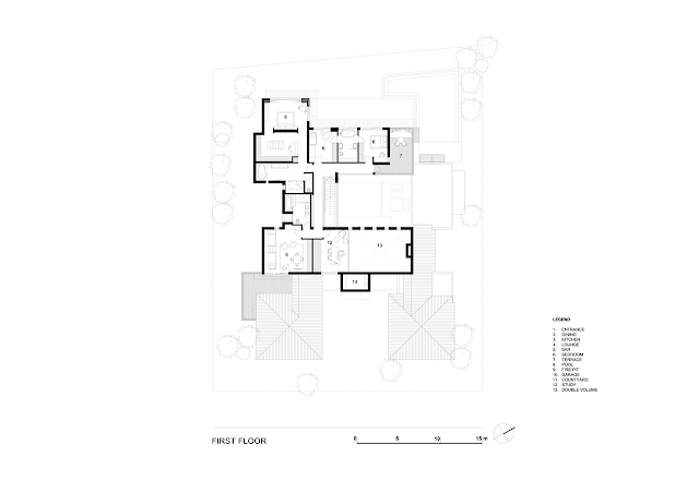 First floor plan of the dream home