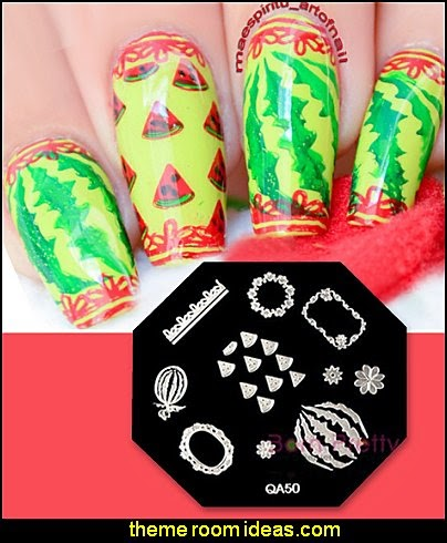 Watermelon Nail Art Stamp Template