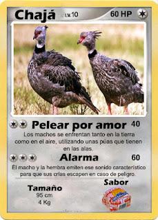 Cartas de Pokemon con Fauna uruguaya (Pradera) - Chaja
