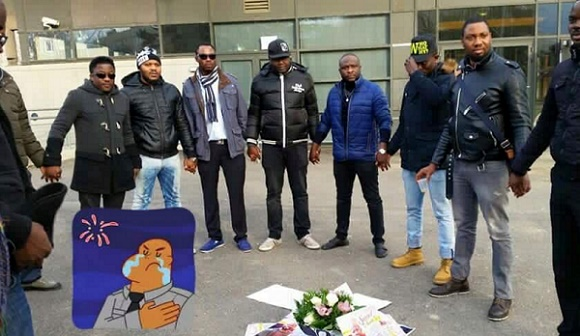 Photos: Friends Gather In France To Pay Last Respect To Slaughtered Oyelowo Ajanaku