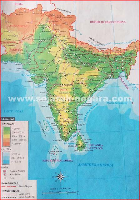 Gambar Peta Atlas Asia Selatan 2018