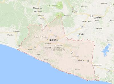 Peta Wilayah Provinsi Daerah Istimewa Yogyakarta