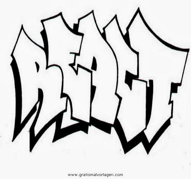 Malvorlagen Zum Ausdrucken Graffiti - Kostenlose