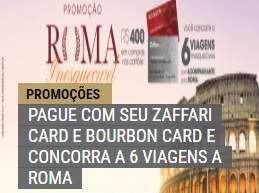 Promoção Cartões Bourbon 2019 Viagem Roma Inesquecível - Participar