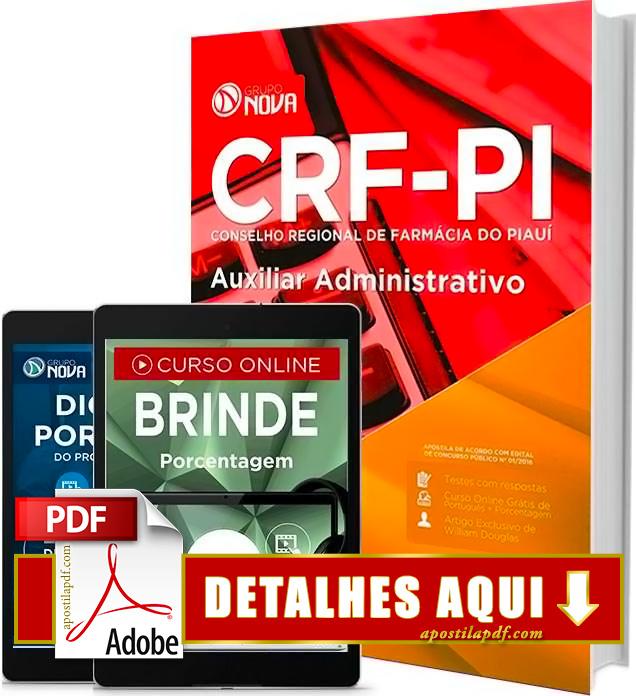 Apostila CRF PI 2016 Auxiliar Administrativo Impressa