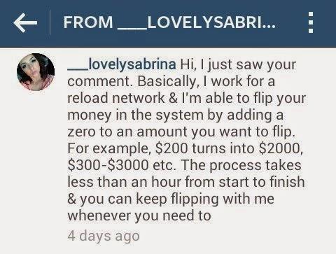 vanilla reload scam on instagram
