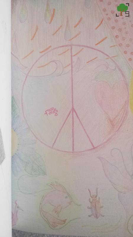 pacyfa, pokój, pacyfizm, kolory, rysunek, wolność, rewolucja seksualna, ruch hippisowski
