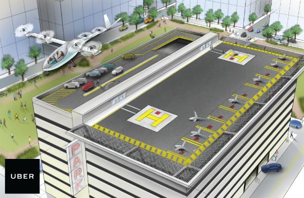 أوبر وناسا يطوران سيارات أجرة طائرة!