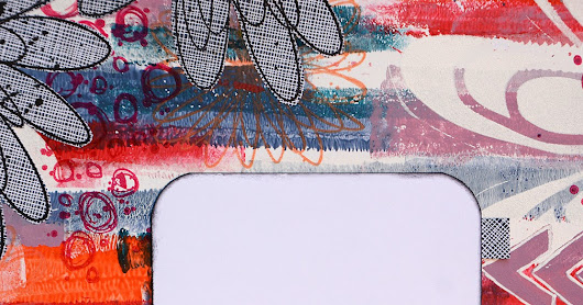 2019 #3 Mail Art: Gel-printed Envelope with ETS {by Anneke de Clerck}