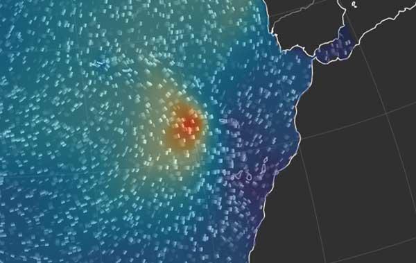 Leslie, ya como depresión tropical, afectará, sobre todo a las islas occidentales de Canarias, en lo marítimo y con ráfagas de fuerte viento