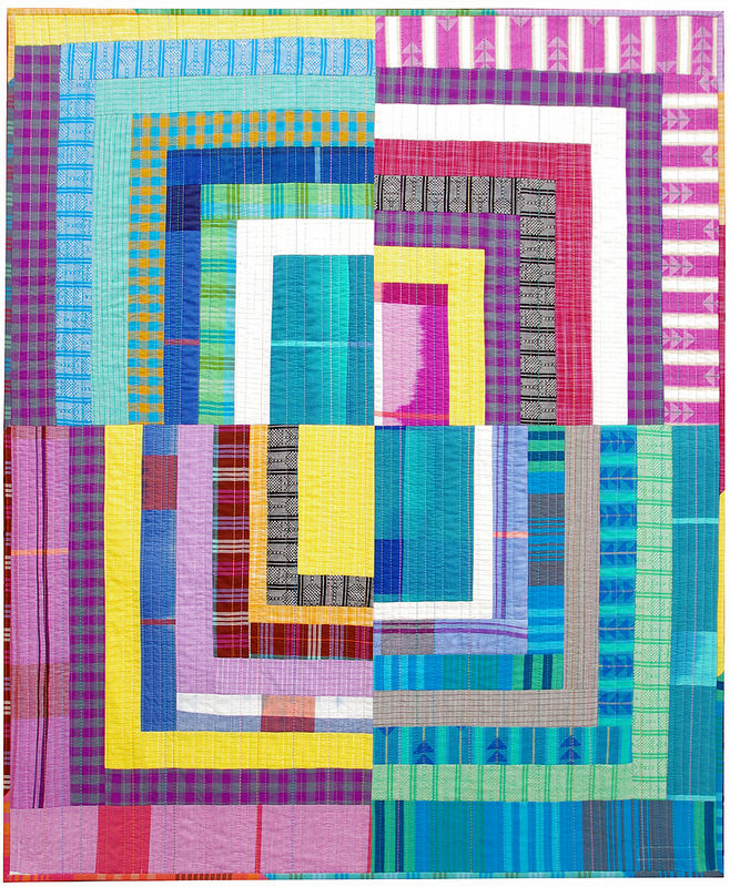 Loominous ~ Quarter Log Cabin Quilt | Red Pepper Quilts 2015