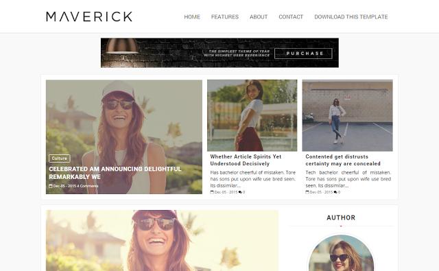 Maverick Fashion Blogger template responsive
