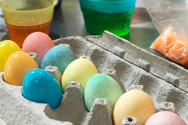 White Rice Speckled Easter Eggs