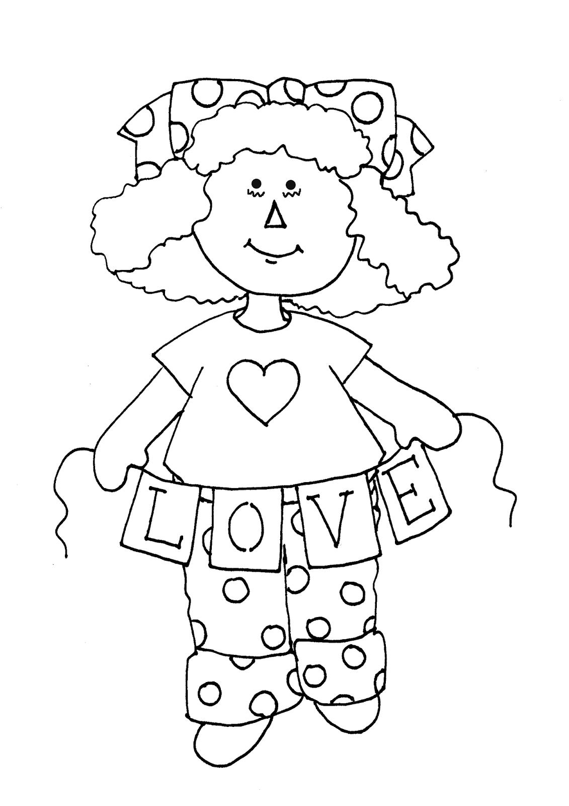 Free Dearie Dolls Digi Stamps: Raggedy Ann Love