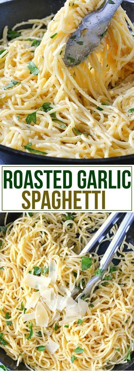 Roasted Garlic Spaghetti