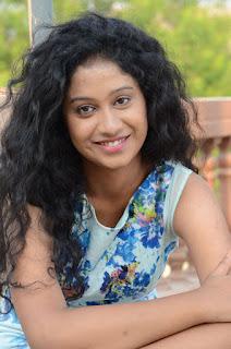 Actress Priyankha Stills in Floral Short Dress at Golmal Gullu Movie Pressmeet 0294.JPG