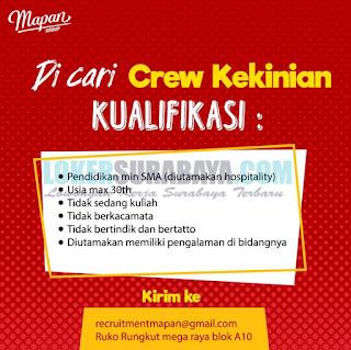 Dicari Crew Kekinian di Mapan Group Surabaya Terbaru 2019