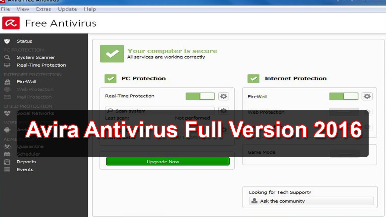 avira antivirus vista free download