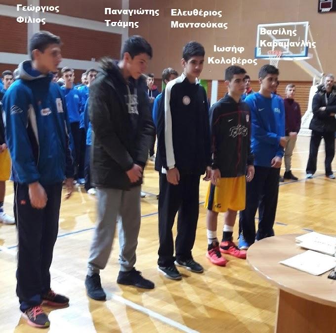 MVP στο 33ο τουρνουά Χριστουγέννων Αγοριών «Πέτρος Καπαγέρωφ» ο Καλόγηρος της ΕΚΑΣΘ-Στην καλύτερη πεντάδα ο Φίλιος