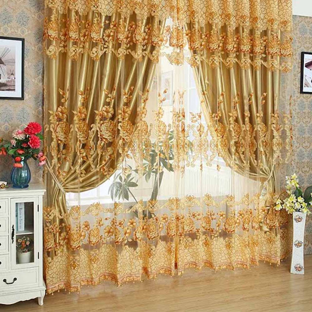 drawing room curtain styles ideas