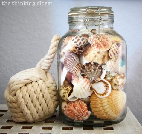 nightstand display nautical beachy