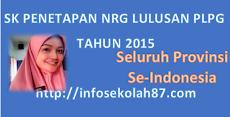 SK Penetapan dan Lampiran NRG Lulusan PLPG Tahun 2015 Se Indonesia