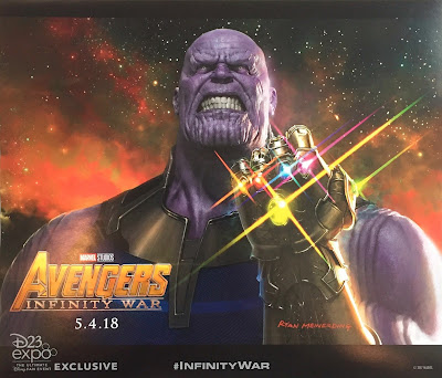 The D23 Expo Exclusive Avengers Infinity War Thanos Teaser Movie Poster