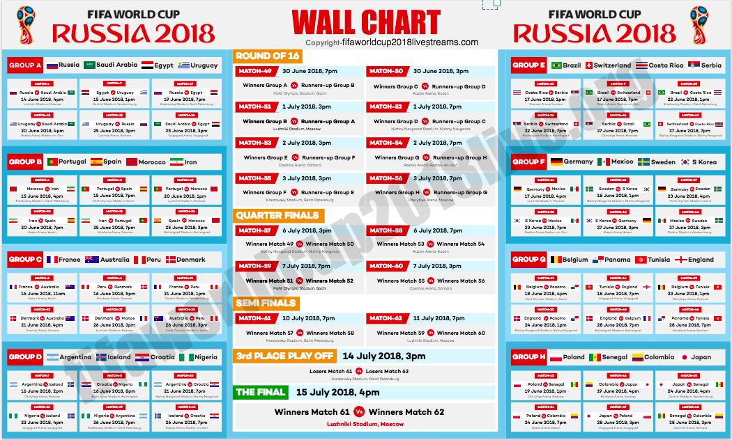 world cup russia schedule pdf