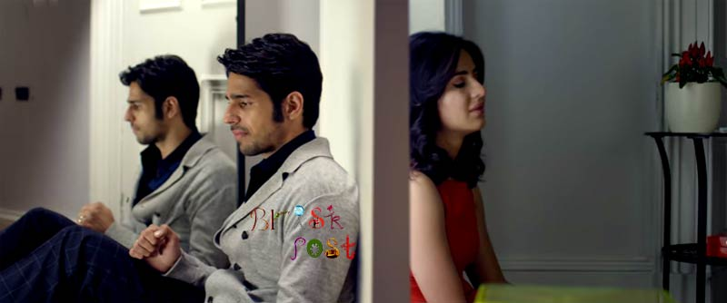 Sidharth Malhotra Katrina Kaif sitting sad showing back in Baar Baar Dekho