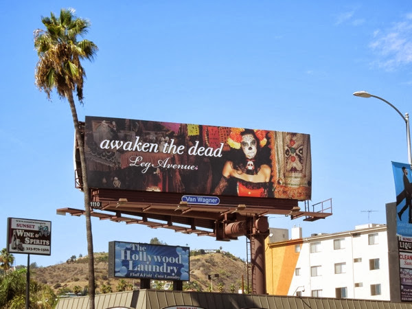 Leg Avenue Awaken the Dead Halloween billboard ad
