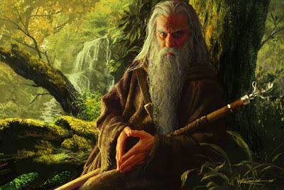 Merlin the Wise 2005 via www.komarckart.com as seen on linenandlavender.net - http://www.linenandlavender.net/2013/05/magic-and-merlin-archetype.html
