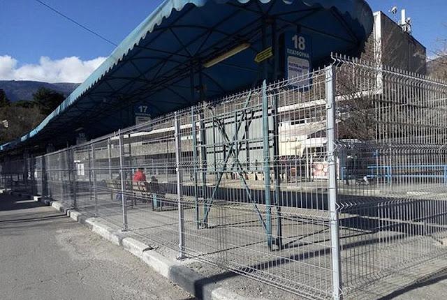 Крымские заборы, автовокзал Ялты