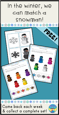 Get the last part of the snowman themed freebie at Looks Like Language!