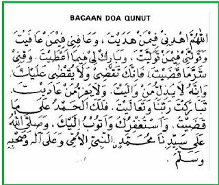 Inilah Bacaan Doa Qunut Pada Sholat Subuh Lengkap Arab Latin dan Terjemah