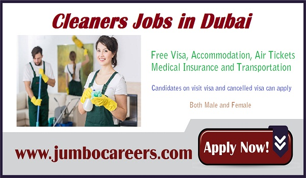 Available job openings in Dubai, urgent Cleaners jobs in Dubai 2018,