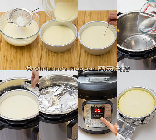 藍莓芝士蛋糕製作圖 Blueberry Cheesecake in Instant Pot Procedures02