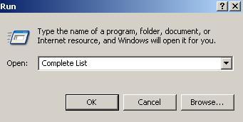 Windowsta Çalıştır Komutları