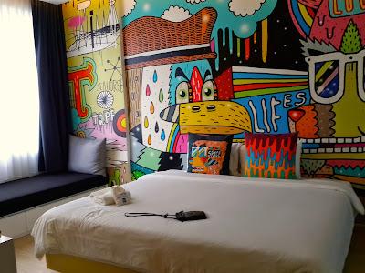 Room at Beat Hotel in Bangkok, Thailand