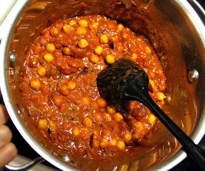 Oppskrift Chana Masala Indisk Kikertgryte Krydder Galanga Kokosmelk Vegansk Vegetar