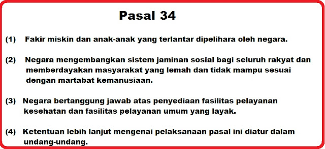 Bunyi Pasal 34 Ayat 1, 2, 3 dan 4 UUD 1945 Lengkap Penjelasannya