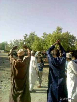 Photos Of Dapchi Youths Shaking Hands With Boko Haram Terrorists After Return Of Schoolgirls
