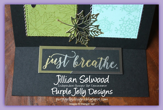 Just breathe, Gold and Silver embossing powder